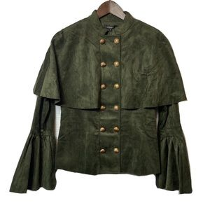 For Her Green double breasted Jacket